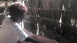 African genital massage in the straw shanty