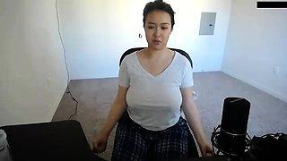 Cute asian chick hot solo masturbation