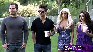 Swingers are ready to have sexy action in reality