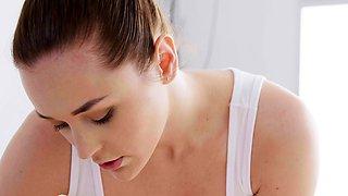 Massage Rooms Alya Stark facesitting on Czech lesbian