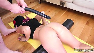 Extreme and big cunt Ass-Slave Yoga