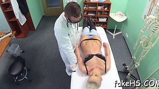 sexy doctor undresses for sex