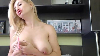 Beautiful Romanian, Nipple Play With Toothbrush And Milk