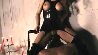 mistress uses slaves cock