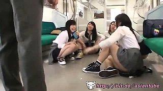 Asian schoolgirls train - Watch Part2 on video site