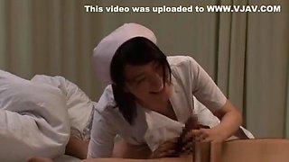 Naughty Japanese milf is a hot nurse getting banged