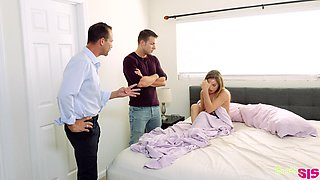 Codey Steel is craving for his sleeping half naked stepsister Sydney Cole