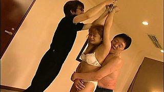 Hot Asian bondage masturbation scene