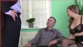 Femdom wife humiliates husband