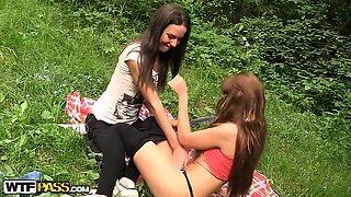 Anal fingering at college sex party