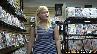 chubby teen at gloryhole extreme