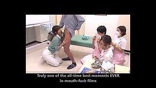 Japanese Nurse Blowjob Drinking cum