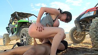 Hot Nikki Benz fucked in the desert by man with heavy cock