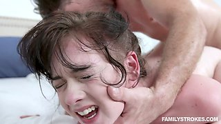 Lecherous teen Athena Rayne gets intimate with her sex-hungry step brother