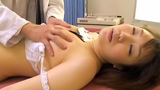 Innocent Japanese broad fucked hard during medical exam