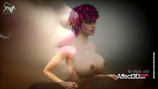 Fantasy animation game with a big tits elf beauty