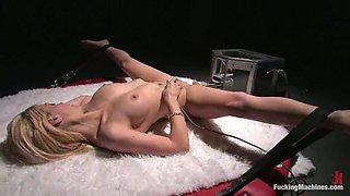 Amazing Samantha Sin gets her wet pussy drilled by a machine