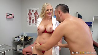 Julia Ann is a horny doctor who wants to ride a boner