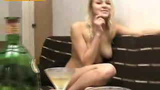 This super horny Russian chick loves showing off her naked body