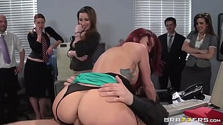 monique alexander getting ass fucked in front of her colleagues