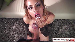 Sexy Yurizan Beltran sucking a big dick