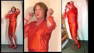 I love crossdress in red 68