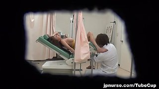 Japanese AV Model gets pussy poked in the hospital