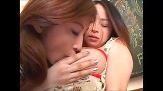 asian lesbian sucking big natural tits milk of tsukasa