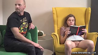 She Is Nerdy - Lana Broks - Sexy book rat spanking and fucking