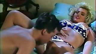 Stunning sassy vintage blondie with hairy pussy and huge breasts