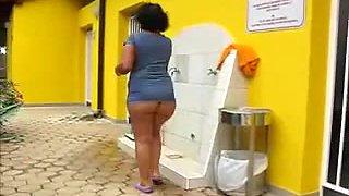 Brazilian Grannyshower Outside