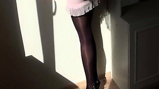 My Pantyhose Weekend with my GF