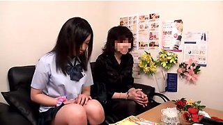 Sensual Schoolgirl Massage Ends in Dripping Cream Pies
