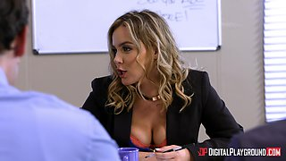 Natasha Nice seduces a horny co-worker for a drill