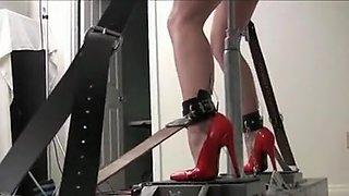 Incredible amateur Brunette, Fucking Machines xxx movie