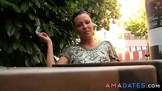 Amateur - Public Exhibition Outdoor Cafe Anal & CIM Facial