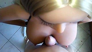 -Little girl in bikini filmed by dad