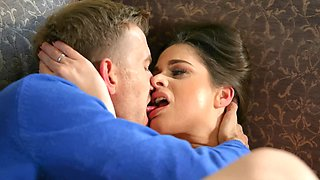 Hungarian housewife explores her sexuality with her well hung husband