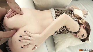 tiny euro redhead misha cross in hardcore anal scene