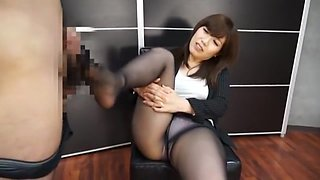 Fabulous Japanese slut Saki Izumi in Exotic Secretary, Stockings/Pansuto JAV video