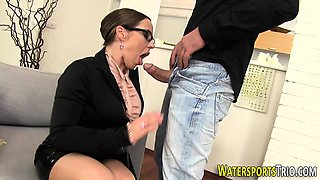 Goldenshower slut riding
