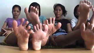 4 pairs of filipina soles