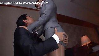 Hottest Japanese model Aoki Misora in Amazing Masturbation, Stockings JAV video