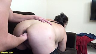 first rough fist fuck lesson with bbw stepsister