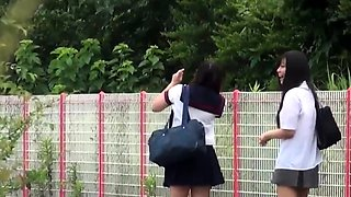 Japanese students peeing in uniforms