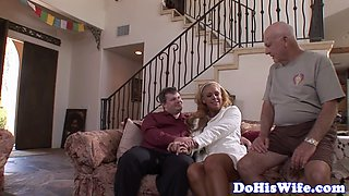 Bigtit milf gets banged in front of hubby