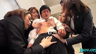 Aroused japanese gals are naked and willing to get wicked